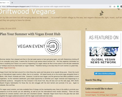 Driftwood Vegans Blog Reviews Vegan Event Hub